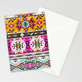 Fancy abstract geometric vector pattern in tribal style Stationery Cards