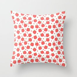 pattern with strawberries Throw Pillow