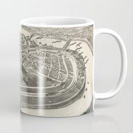 Vintage Pictorial Map of Holyoke MA (1881) Coffee Mug