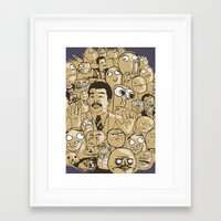 meme Framed Art Prints featuring Meme Color by neicosta