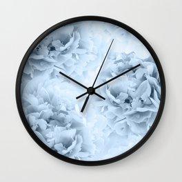 Light Blue Peonies Dream #1 #floral #decor #art #society6 Wall Clock