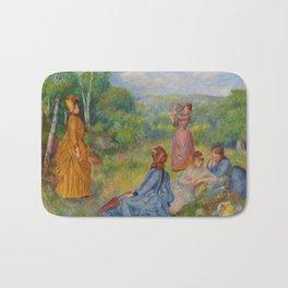 """Auguste Renoir """"Jeunes filles jouant au volant"""" Bath Mat"""