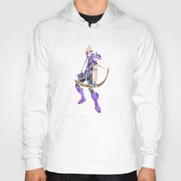 clint barton Hoodies featuring Clint Barton by Tegan New