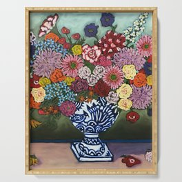 Amsterdam Flowers Serving Tray