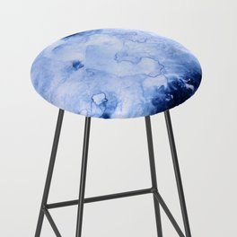 Marbled Water Blue Bar Stool