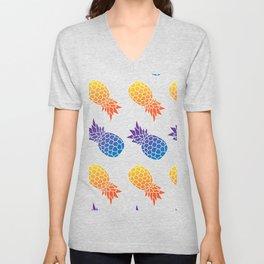 Colorful Pineapple Gift Unisex V-Neck