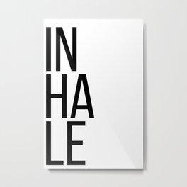 Inhale exhale (1 of 2) Metal Print