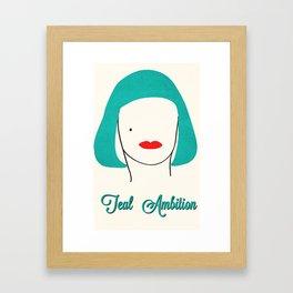 Teal Ambition Framed Art Print