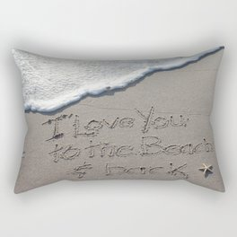 I love you to the Beach and back Rectangular Pillow
