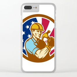 American Handyman USA Flag Icon Clear iPhone Case