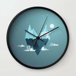 Low Poly Polar Bear Wall Clock