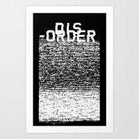 Dis-order (Inverted) Art Print