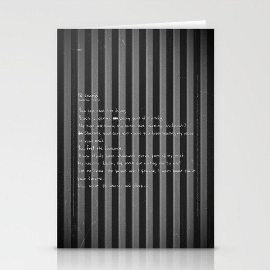 blackframe/18 seconds Stationery Cards