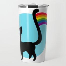 Cute Pride Cat Travel Mug