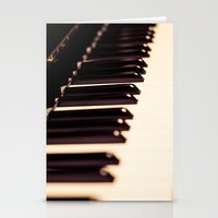 piano Stationery Cards featuring piano by noirblanc777