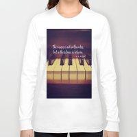 mozart Long Sleeve T-shirts featuring Mozart Music by KimberosePhotography