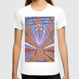 Kings Cross Station Platform Pop Art T-shirt
