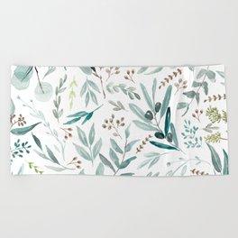Eucalyptus pattern Beach Towel