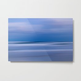 Blue Twilight on the Beach Abstract Photo Print Metal Print