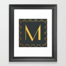 Art Deco Monogram - M Framed Art Print