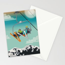 Ski Lift Stationery Cards
