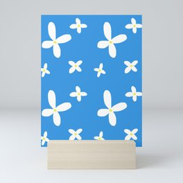 Classic Blue and White Flowers Mini Art Print