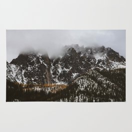 larches on the mountain Rug