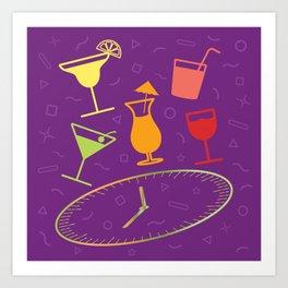 Happy Hour Cocktail Art Print