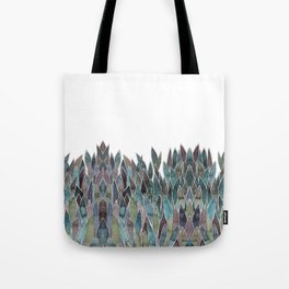 Plants decorations shades of green and purple watercolor Tote Bag