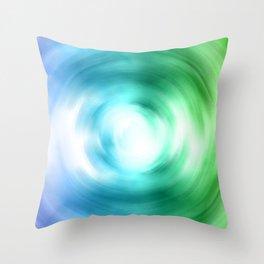 Cool Shade Swirl Throw Pillow