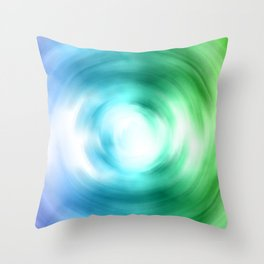 Cool Shade Swirl Throw Pillow