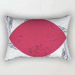 Red + Marble Rectangular Pillow