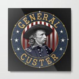 General Custer Roundel Metal Print