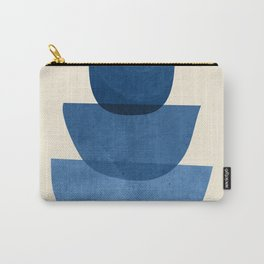Abstract Shapes 37-Blue Carry-All Pouch