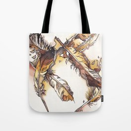 Chipewyan Feathers Tote Bag