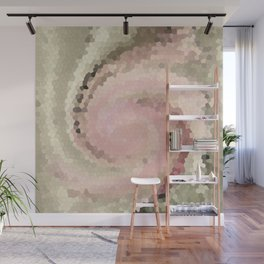 Multicolored mosaic in pink and grey tones . Wall Mural