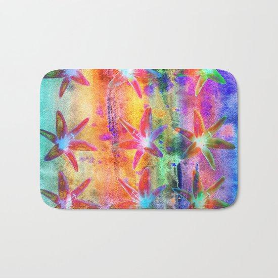 Colorful Lilies Bath Mat