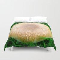 mushroom Duvet Covers featuring Mushroom by Corinne L. Simpson