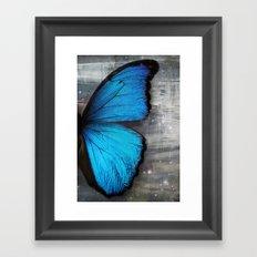 Butterfly Blue Wing Framed Art Print