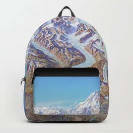 Heinrich Berann - Panoramic Painting of Denali National Park with labels (1994) Backpack