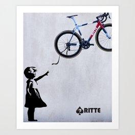 Ritte - Float Away Ace Art Print