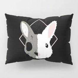Skull Bunny Pillow Sham