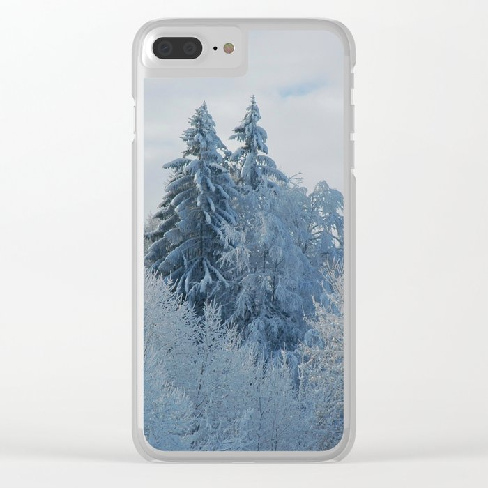 After the snowfall Clear iPhone Case