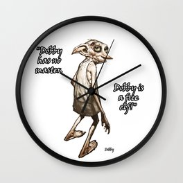 Dobby is a free elf Wall Clock