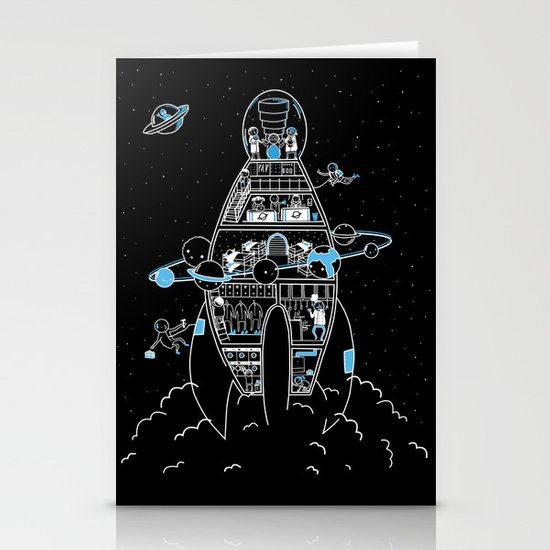 Interstellar Travels Stationery Cards