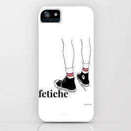 fetiche #1 (white) iPhone Case