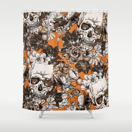 SKULLS 2 HALLOWEEN Shower Curtain