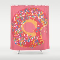 doughnut Shower Curtains featuring Doughnut by Fischerboy