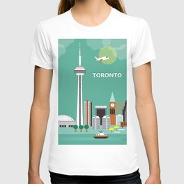 Toronto, Ontario, Canada - Skyline Illustration by Loose Petals T-shirt