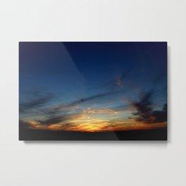 Sunset 031618  Caps, Texas Metal Print